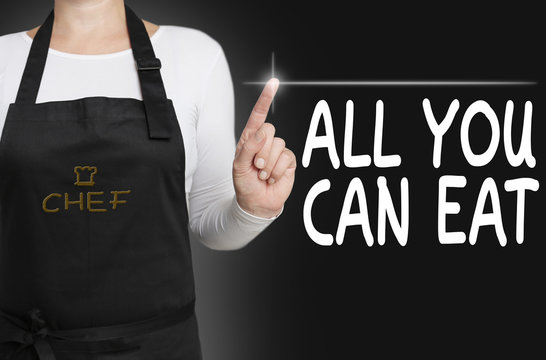 all you can eat touchscreen is operated by chef concept