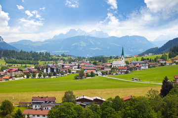 Landscape view from Wilder Kaiser, Tirol, Austria