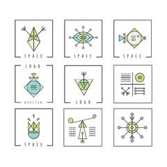 Line shapes geometry. Alchemy, religion, philosophy, spiritualit