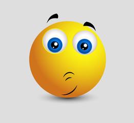 Cute Embarrassed Emoji Smiley Emoticon