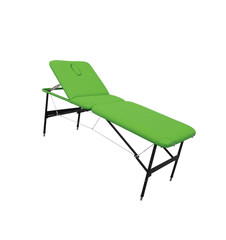 Objects on white: green massage table