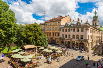 Wall Mural - Lviv - the historic center of Ukraine