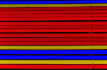 Colored tubes of neon light