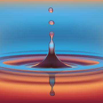 Goutte d'eau en suspension