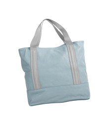 blue bag on a white background