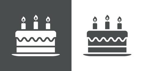 Icono plano tarta de cumpleaños #1