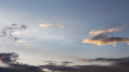 blue sky with cloud, twilight sunset sky background