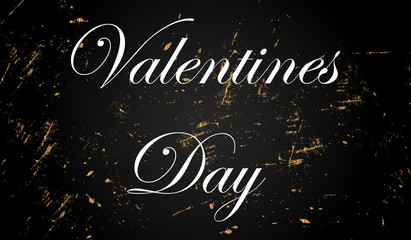 Valentines Day golden style illustration