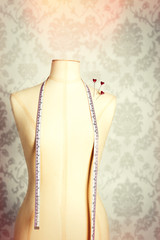 Vintage Mannequin With Tape Measure
