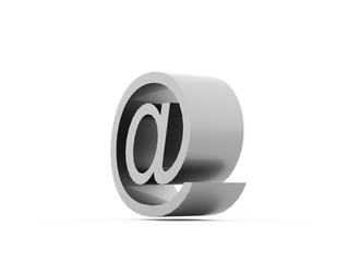 E-mail icons on White Background.