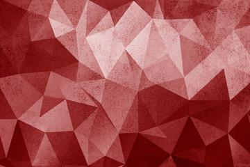 Grunge red polygonal vintage old background.