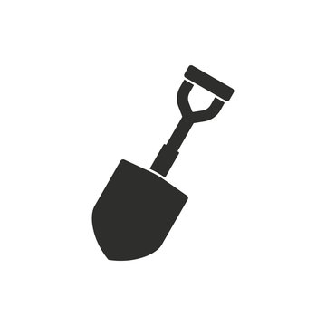 Shovel - vector icon.