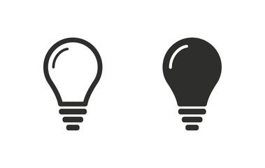 Lightbulb- vector icon.