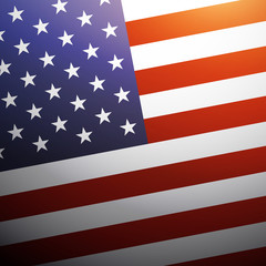 United State of America flag background, USA flag, vector illustration