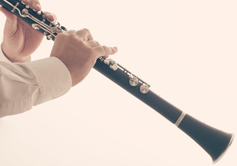 Man playing a clarinet