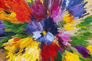 Texture oil painting, flowers, art, painted color image, paint