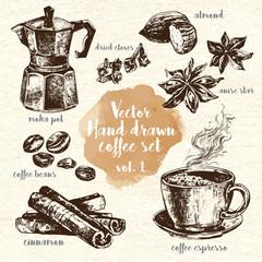 Hand Drawn Coffee Set vol.1