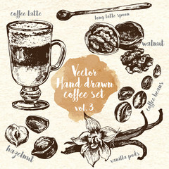 Hand Drawn Coffee Set vol.3