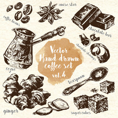 Hand Drawn Coffee Set vol.4