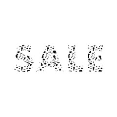 Sale sign. Clothes shopping sale. Vector illustration.