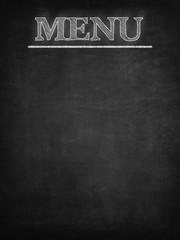 Blank menu blackboard