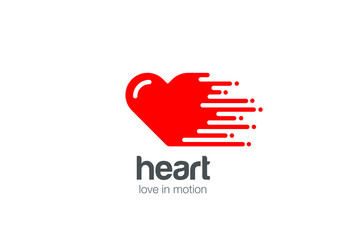 Heart Logo Love. Cardiology Logotype St Valentines Day icon