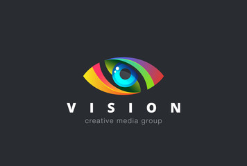 Eye Logo design vector. Media icon. Creative Vision Logotype