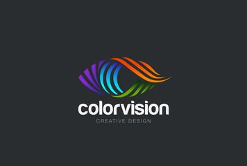 Eye Logo design vector. Media icon. Vision Logotype idea.