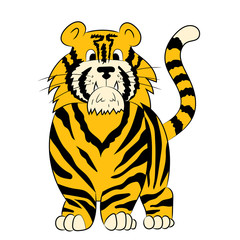 Illustration of an animation tiger.