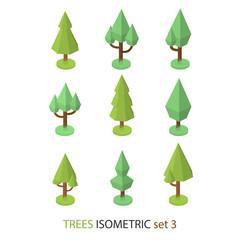 Isometric vector tree set 3