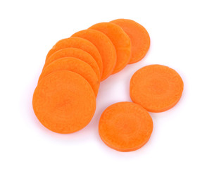 Fresh carrots, sliced
