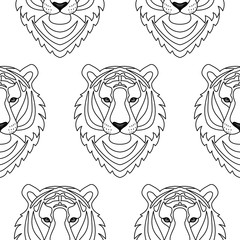 Tiger seamless pattern