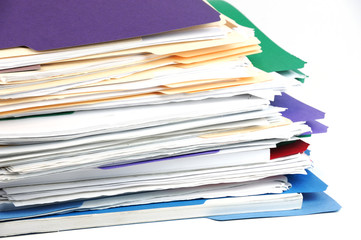 stacking documents folders