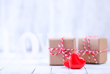 presents and hearts