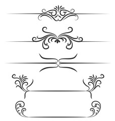 Borders hand drawn element vector design
