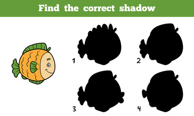 Find the correct shadow (fish)