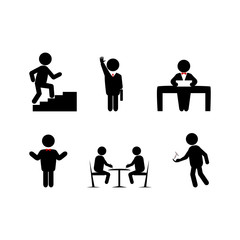 set icons businessman