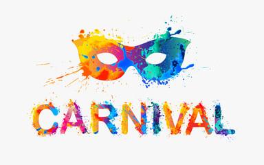 CARNIVAL. Rainbow splash paint word