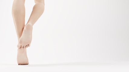 Soft woman feet