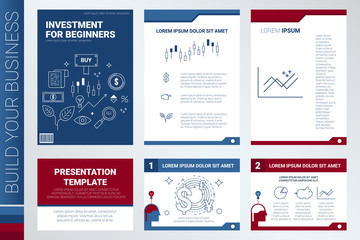 Book cover and presentation template