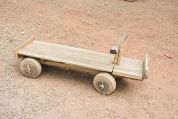 Wooden Go-cart, Toy car.