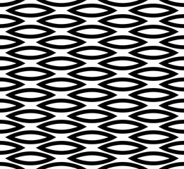 Abstract seamless background / pattern with staggered leaf, almo