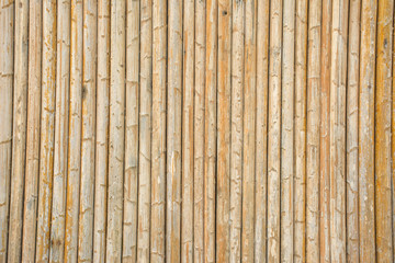 close up decorative old Bamboo wall use for background or textur