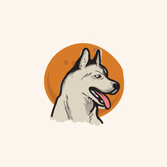 Husky Vector Illustration