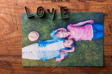 Love composition. Studio shot.