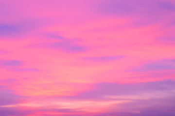 Photo sur Aluminium Rose banbon colorful sky