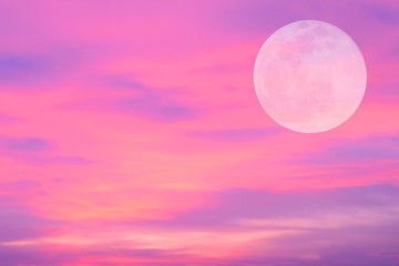 colorful sky with big moon