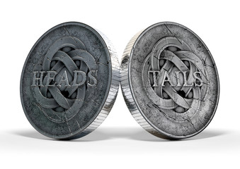 Antique Coins Heads And Tails