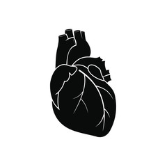 Human heart black icon
