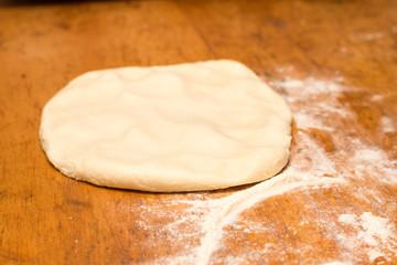 Dough bun on the wooden table